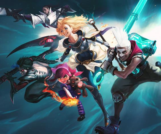 League of Legends by Riot Games mixed on a Calrec Brio
