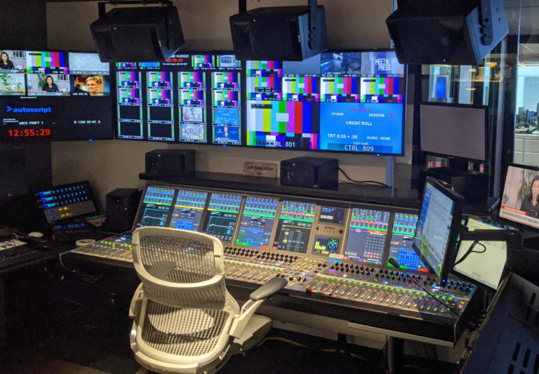 Calrec's Artemis audio console shines for BeckTV install at major US broadcasting facility