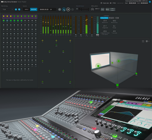 What's the difference between Dolby Atmos in live broadcasting and Dolby Atmos in post?
